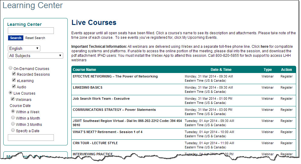 CRN courses